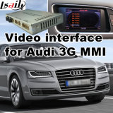 Video interfaccia dell'automobile per Mmi 2010-2016 A4 A5 A6 A7 A8 Q3 Q5 Q7, parte posteriore Android di percorso e di Audi 3G panorama 360 facoltativi