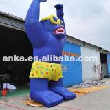 Gorilla gonfiabile saltata aria del fornitore del Guangdong da vendere