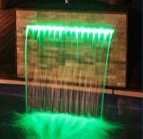 호텔 정원 수영장 장식적인 LED 벽 폭포