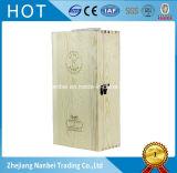 Logo fait sur commande deux paquets articulant la boîte en bois 750ml à vin rouge de couvercle