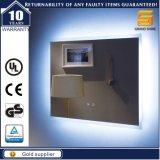 セリウムの証明書の壁に取り付けられたLEDによって照らされるバックライトを当てられた浴室ミラー