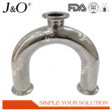 Acier inoxydable sanitaire Bpe accessoires de garnitures de pipe de coude de clip de 90 degrés