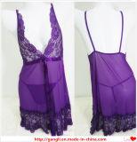 Сексуальный прозрачный Sleepwear женское бельё шнурка