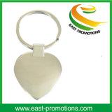 Trousseau de clés blanc fait sur commande en gros de sublimation en métal de Shaed de coeur