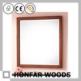 Frame de madeira do espelho do banheiro preto de Matt para a decoração Home