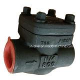 API602 forjó la válvula de verificación de acero de elevación del NPT del extremo de cuerda de rosca A105