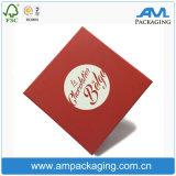 Напечатанная красным цветом коробка Garde дешевой оптовой еды упаковки шоколада упаковывая