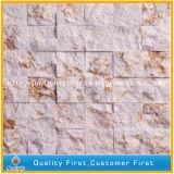 装飾的な壁の背景のための自然で白い大理石の石造りの芸術のモザイク