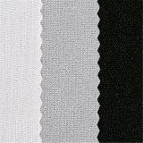 純粋な綿のゆがみによって編まれるゴムの編まれたトリコット行間に書き込むファブリック