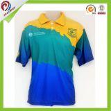 Camisas por atacado Sublimated costume do golfe do polo da cópia de Digitas
