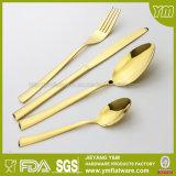 SGS, FDA, Reeks van het Tafelgereedschap van het Diner van het Roestvrij staal LFGB de Gouden