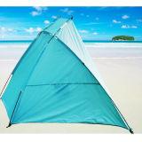 携帯用浜の避難所の日曜日釣浜の屋外のテント