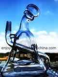 손으로 만들어진 무모한 작은 유리제 유일한 석유 굴착 장치 버플러 유리제 연기가 나는 수관