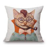 La tela creativa del cotone ha stampato i coperchi del cuscino di manovella del sofà (35C0044)