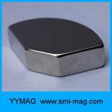 Сильный веерообразный магнит дуги неодимия этапа