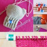 Compteur de rangée de tricotage rond en plastique de tricotage de forme rotatoire de baril d'outil