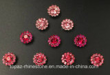 2017 новые и верхние стеклянные бусины установки когтя цветка качества 9mm кристаллический шьют на полосе Strass (TP-9mm все лт. поднял вокруг кристалла)