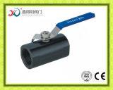 Robinet à tournant sphérique de l'acier inoxydable 1.4408 DIN 1PC Pn63 Dn20