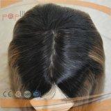 100% dunkler Brown #6/#8/#4 Farben-Menschenhaar Silk SpitzenSheitel jüdische Perücken