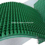 PVC 녹색 어선 악어 패턴 높은 마찰 컨베이어 벨트