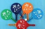 بلاستيكيّة شاطئ مغدف ريش مضرب مع مختلفة لصف لون