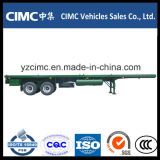 Cimc 3 eixos 40 pés de reboque Flatbed do recipiente