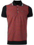 Рубашка пола проверки холстинки людей с короткими втулками