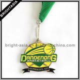 De Medaille van het Sleutelkoord van de Legering van het Zink van het metaal voor Sport (byh-101138)