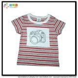 Maglietta lunga dell'infante di stampa della banda dell'indumento del bambino del manicotto