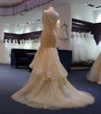 Stutzen-Abend-Kleid der Nixe-V mit gekräuseltem Tulle