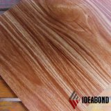 Materiale composito di alluminio del rivestimento di Ideabond Ae-308 della parete della decorazione di Woode del PE interno di rivestimento