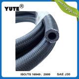 Durite de carburant noire tressée d'essence de fibre en caoutchouc de Yute 4mm Eco