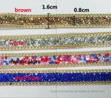 Caldo-Fondere la catena adesiva di cristallo del Rhinestone del merletto adesivo degli accessori del Rhinestone della colla (TS-026)
