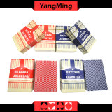 Os cartões de jogo dedicados do póquer de 100% Texas Holdem clube plástico esfregam o cartão Ym-PC04 do PVC dos caráteres