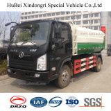 1ton Vrachtwagen van de Pers van het Huisvuil van het Type van Vat 5 van Shacman van de nuttige lading de Euro Hangende