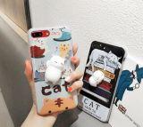Caja del teléfono móvil del silicón, suave, categoría alimenticia, luz, manera para el iPhone