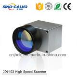 De lichtgewicht Scherpe Machine van de Laser van het Aftasten Jd1403 van de Opening van de Straal van 9mm Digitale Hoofd