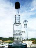 O projeto o mais novo tubulação de água de fumo de vidro do reciclador do funil de uma altura de 16 polegadas
