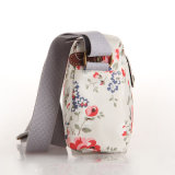 Waterproof Canvas Shoulder PVC britânicos retro floral Crossbody Bag