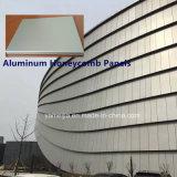 Los paneles a prueba de fuego con paneles de aluminio de nido de abeja revestimiento de la pared Ahp