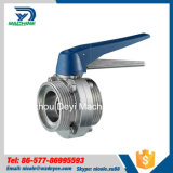 Acier inoxydable Hygiénique Threading Male Butterfly Valves