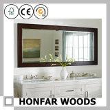 Blocco per grafici di legno decorativo dello specchio della stanza da bagno Finished classica del Brown