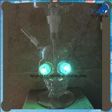 Luz de cristal de las cachimbas LED del estilo del cráneo de la cachimba
