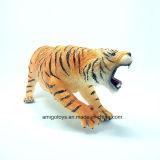 Brinquedos engraçados do tigre do PVC do modelo animal plástico por atacado macio
