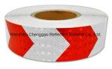 차를 위한 녹색과 백색 화살 안전 사려깊은 물자 테이프