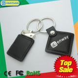 HUAYUAN 최신 판매 Ntag213 NFC RFID 가죽 Keychain
