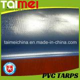 베이지색 회색 650GSM PVC 트럭 덮개 취급되는 까만 UV