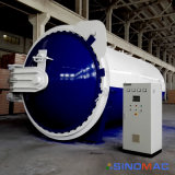 autoclave de borracha horizontal industrial de Vulcanizating do aquecimento de vapor de 2500X6000mm