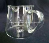 ハンドメイドの明確なホウケイ酸塩の飲むガラスのティーカップ