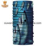 Bandana multifonctionnel fait sur commande d'Ouwang avec des poissons estampés